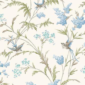 Holden decor Holden Jasmine bloemmotief behang vogel bloem blad moderne glitter 98841