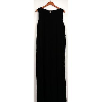 Kate & Mallory Dress Sleeveless Pleat Front & Back w/ Underlayer Black A429527