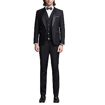 Allthemen mannen ' s 3-delige smoedos bruiloft business suits blazer & vest & broek