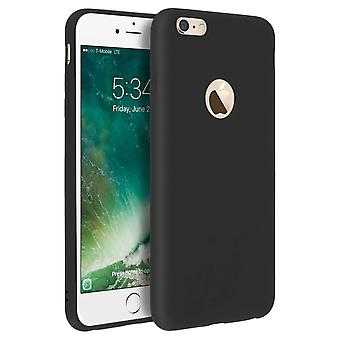 Forcell case for iPhone 6 Plus, 6S Plus, soft touch cover, silicone case - Black
