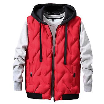 Allthemen Men's Padded Vest Thickened Warm Hooded Winter Waistcoat