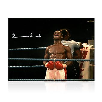 Chris Eubank Signed Boxing Photo: Simply The Best