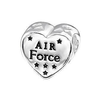 Usa Air Force - 925 Sterling Silver Plain Beads - W28297x
