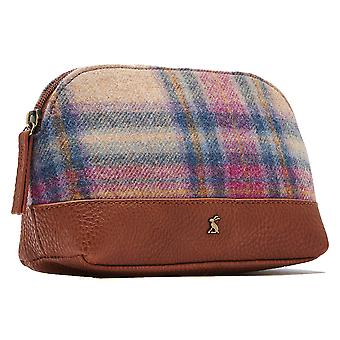 Joules Womens Short Haul Tweed Stylish Compact Travel Bag