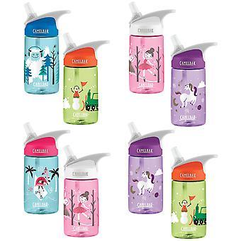 Derrame de Camelbak Eddy niños 400ml / 12oz botella de agua prueba BPA free - Twin pack