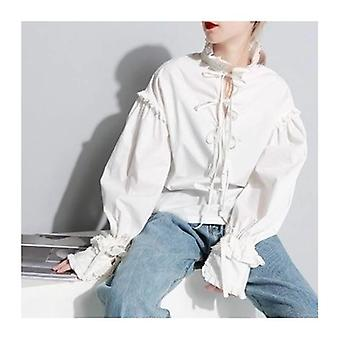 Lace Bow Long Sleeve Layered Shirt
