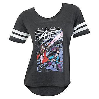 Avengers Scarlet Witch e Hawkeye Women ' s Jersey T-shirt