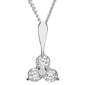 InCollections 241A201653340 - Chain with women's pendant with cubic zirconia - silver sterling 925 - 420 mm