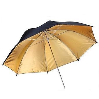 BRESSER BR-BG83 reflekterende paraply sort/guld 83cm