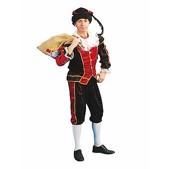 Zwarte Piet Noir Peter Costume Serviteur Ruprecht Nikolaus Costume Homme