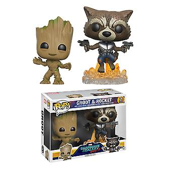 Guardians of the Galaxy Vol. 2 Groot & Rocket US Pop! 2 Pk