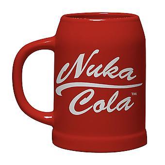 Fallout Bierkrug Nuka Cola 0,6 l rot, aus Keramik, in attraktiver Geschenkbox