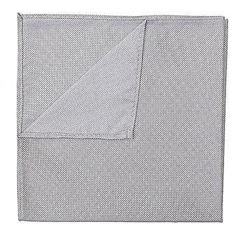 Silver Panama Silk Pocket Square