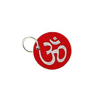 Cle Cles nyckel brode patch Ecusson moral ohm buddhistiska röd symbol