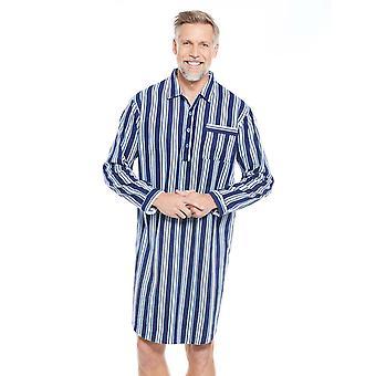 Mens katoen Nachthemd gestreept