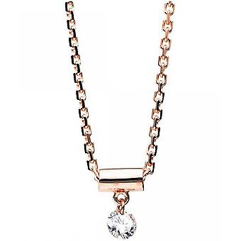 Diamantcollier Collier - 14K 585 Rotgold - 0.08 ct.