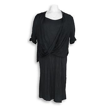 H بواسطة هالستون اللباس متماسكة اللباس الجبهة التفاصيل السوداء A278929
