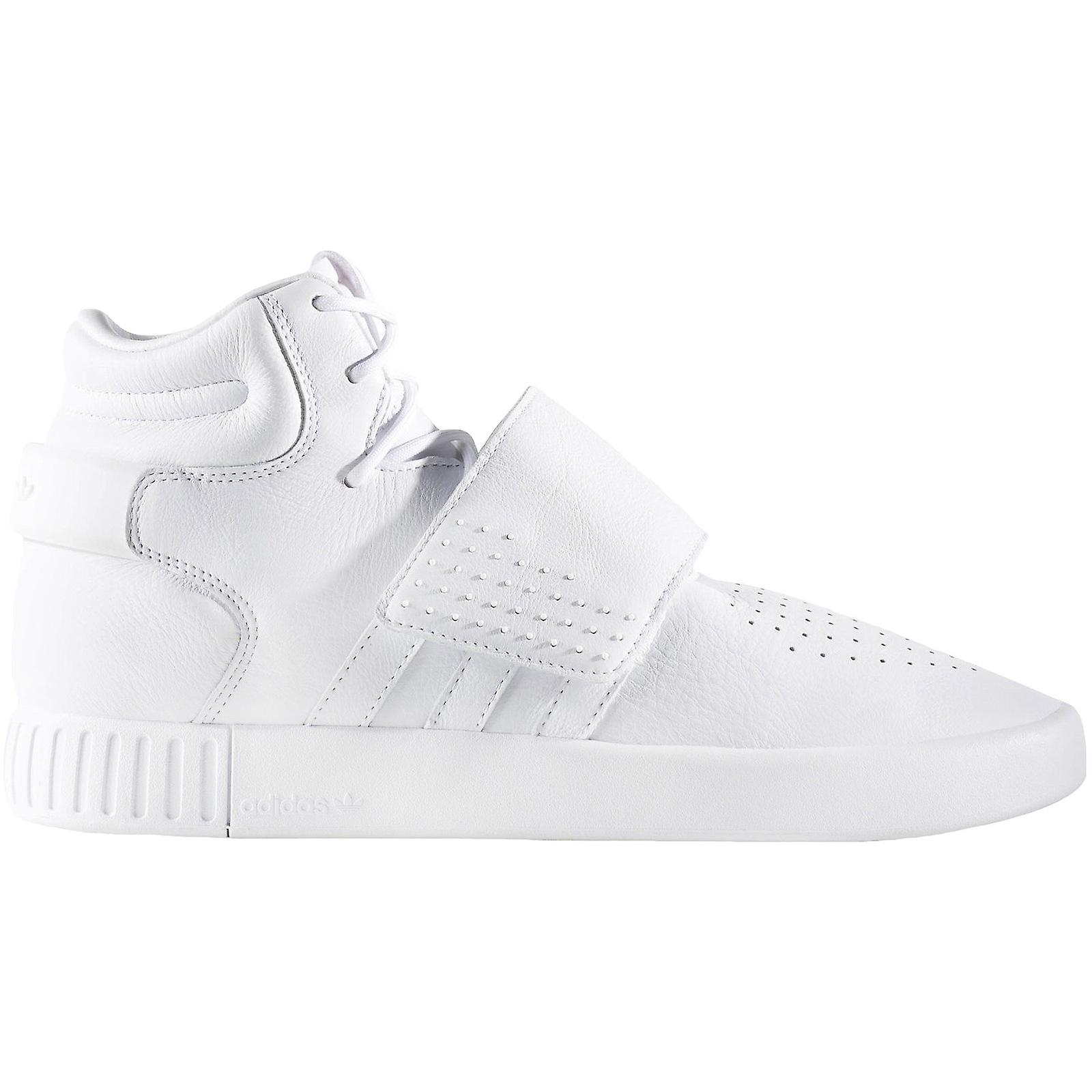 adidas Originals Mens Tubular Invader Strap Casual Lace Up Hi Top Trainers Chaussures
