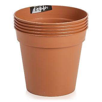 Strata set van 5-10cm terracotta kweek potten