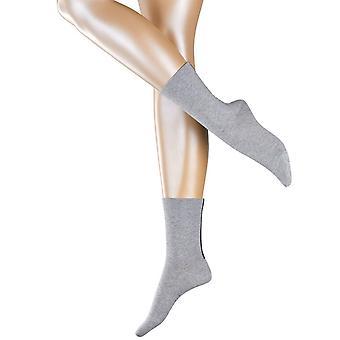 Esprit Accent stripe 2-pakning sokker-lys grå