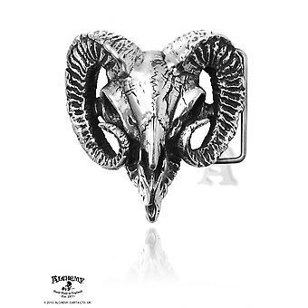 Boucle de crâne de bélier gothique alchimie