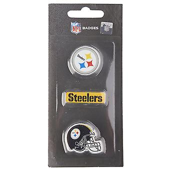 Pittsburgh Steelers NFL Pin Badge Pin Set of 3