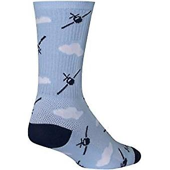 Chaussettes - Sockguy - 6'quot; Crew Fly Boy L/XL Cycling/Running
