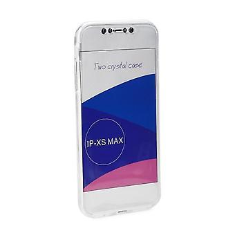 Rumpf für iPhone Xs Max Protection 360 Transparent Flexibel