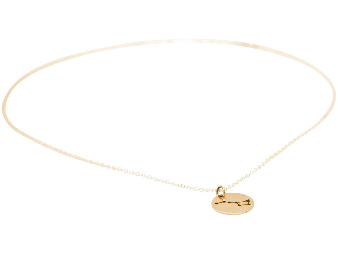 Konstellation Halskette Großer Bär, Großer Wagen aus 925 Silber, vergoldet, rose