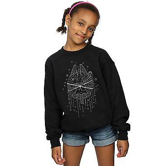 Star Wars Girls Millenium Falcon Christmas Tree Livraison Sweatshirt
