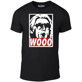Homens ' s Wooo t-shirt-natureza menino Ric Flair