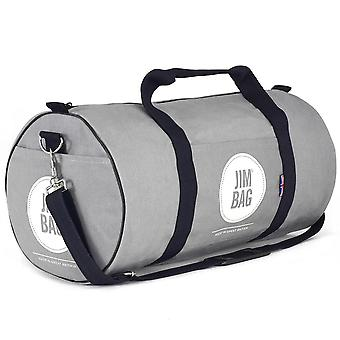 JIMBAG Grey Holdall sport fitness gym overnachting weekend reistas met handvat & schouderriem