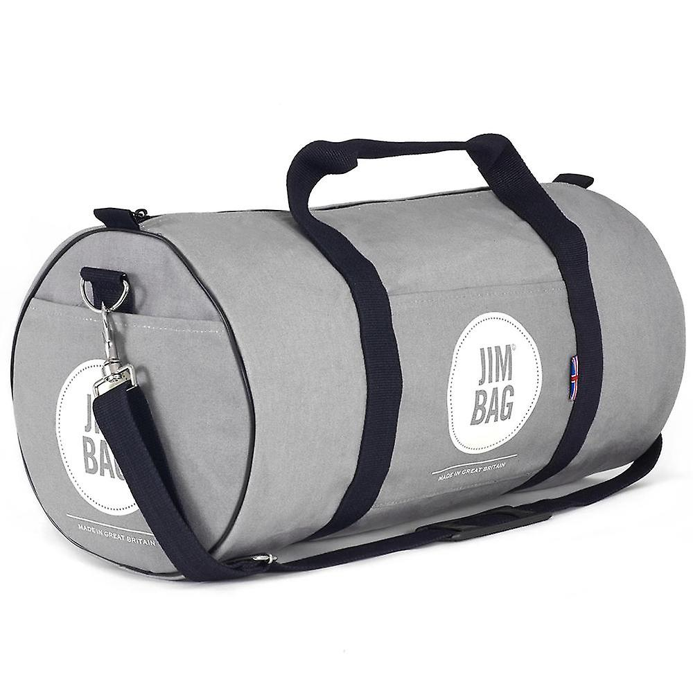 JIMBAG Grey Holdall Sports Fitness Gym Overnight Weekend Travel Bag with Handle & Shoulder Strap