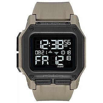 Nixon Watch A1180-2711-00-REGULUS pulseira de silicone Kaki Bo Tier aço preto Carr homens/mulheres