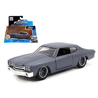 Dom\'S Chevrolet Chevelle Ss Primer Grey \Fast & Furious\ Movie 1/32 Diecast Model Car By Jada
