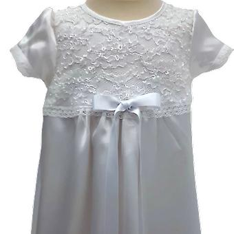 Vit Dopklänning Med Smal Vit Rosett Grace Of Sweden  Ma.v