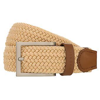 bugatti Gürtel Herrengürtel Textilbandgürtel Stretchgürtel Beige 8512