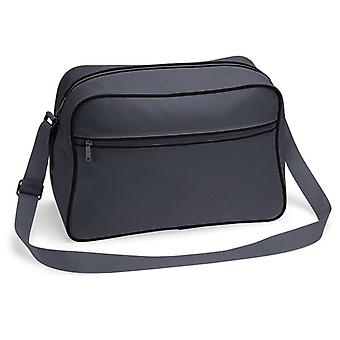 Retro Shoulder Bag - grå/svart