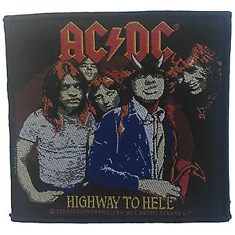 AC/DC Patch Highway To Hell Band Logo new Official 10cm x 10cm sew on