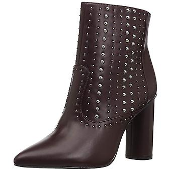 BCBGeneration Women's Hollis Studded Bootie Ankle Boot, Burgundy, 8.5 M US