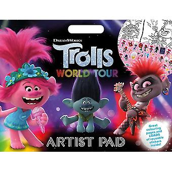 Trolls 2 Large Coloring Book A3 With Reusable Stickers