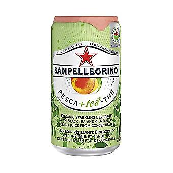 Lattine di pesca San Pellegrino -( 250 Ml X 24 Lattine )