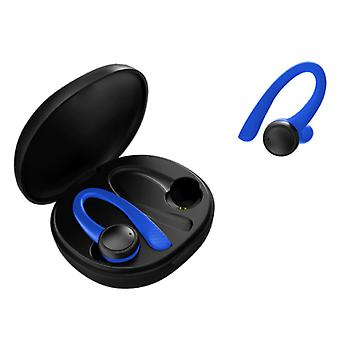 Caletop Sport TWS Wireless Smart Touch Control Earpieces Bluetooth 5.0 In-Ear Wireless Buds Earphones Earbuds 400mAh Earphone Blue
