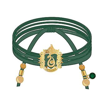 Harry Potter Bracelet Slytherin Suede Wrap Charms And Beads new Official