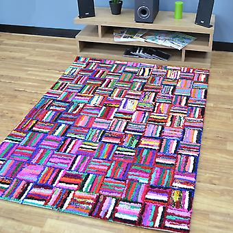 Katoen Chindi Sunshine veelkleurige tapijten 06