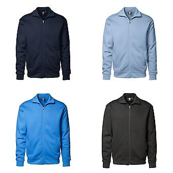 ID Mens Full Zip Regular Fitting Brushed Sweatshirt