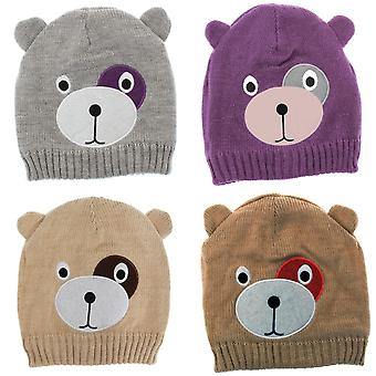 Para crianças/crianças meninas ursinho chapéu de inverno/esqui Design com forro interno