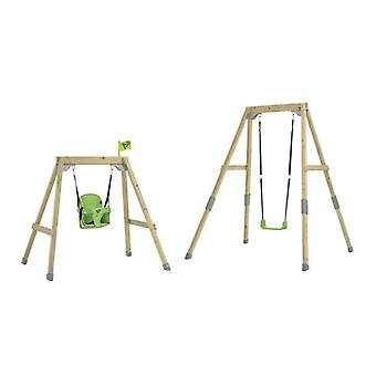 TP Toys Acorn Growable Wooden Swing Set Foldaway and Standard Swing Seat