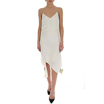 Off-white Owdb230s20fab0010100 Women's White Cotton Dress