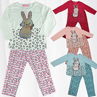 girl pyjama Bunny pants sweater longsleeve combi pajamas two-piece child
